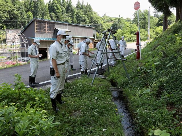 岩井川地区村道柳沢線排水路の要望