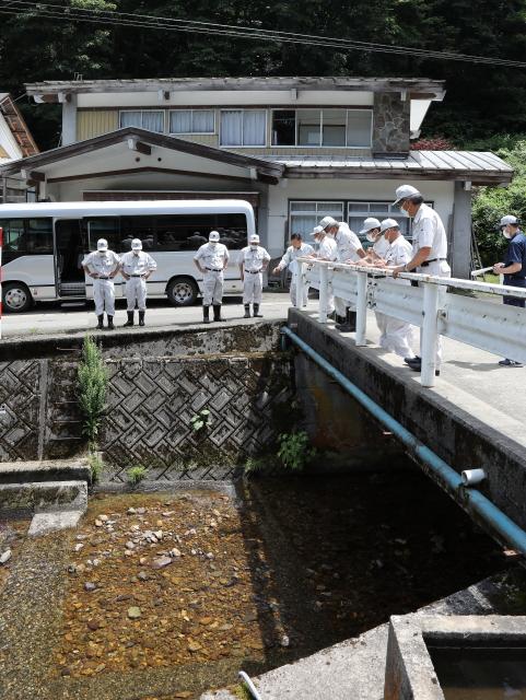 田子内地区沢方水路取水口